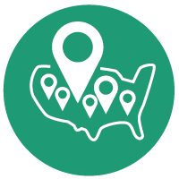 Detailed Geographic Coverage Icon