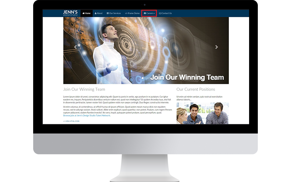 Talentstream Engage Implementation Guide Image - Site View