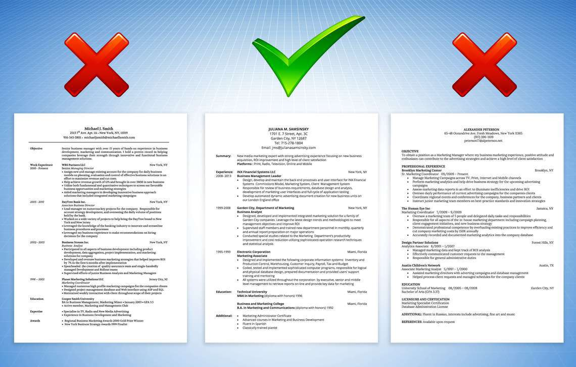 checklist of items that you should consider in preparing your resume
