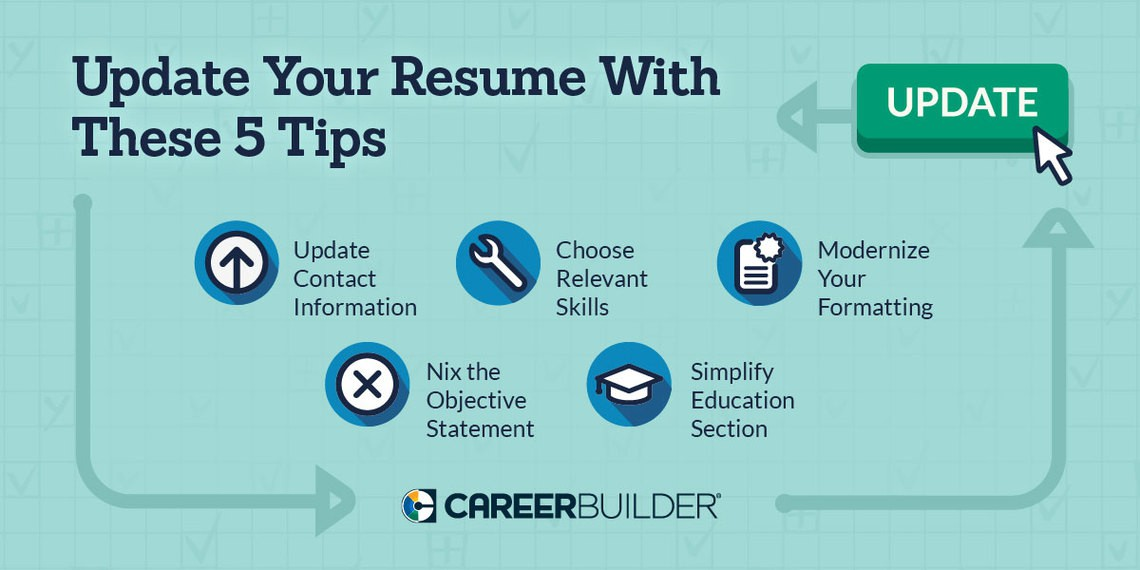 Update these 5 items on your resume CareerBuilder