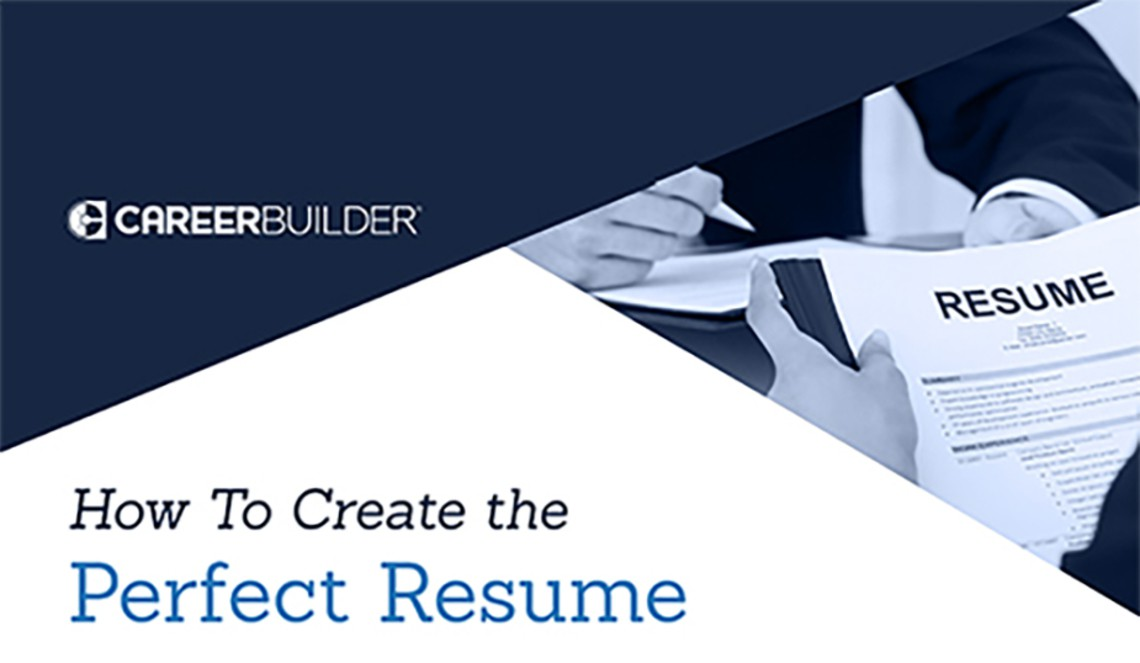 Attractive How To Create The Perfect Resume Regard To Careerbuilder Create Resume