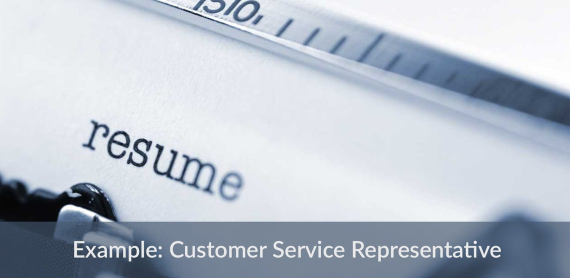 Sample resume for Customer Service