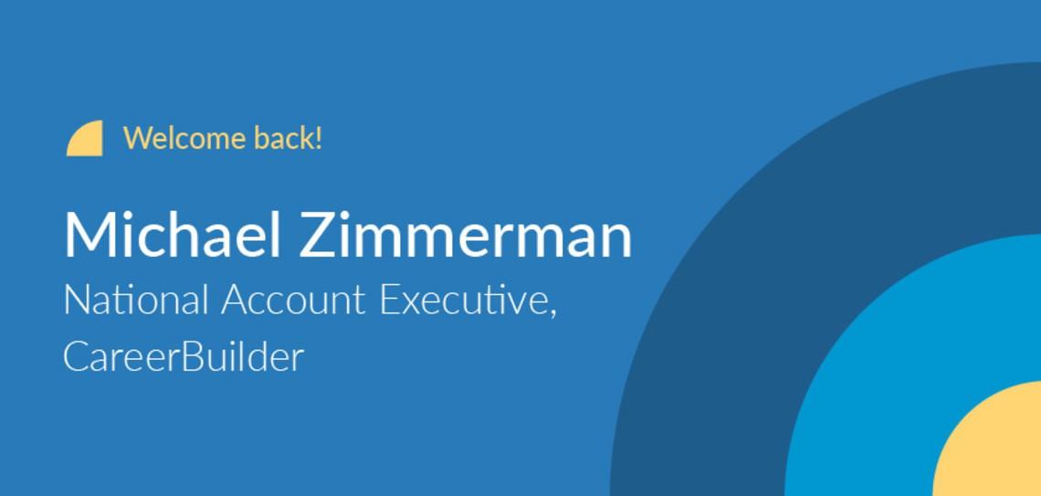 CareerBuilder employee feature Michael Zimmerman