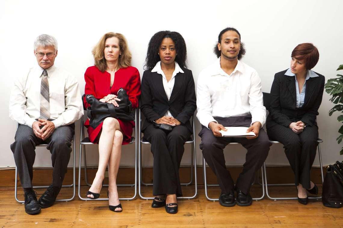 Room of job seekers