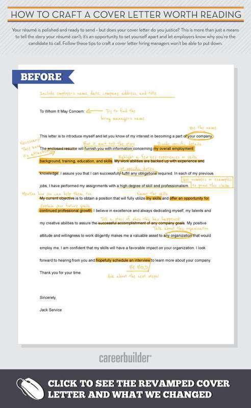 Cover letter teaser