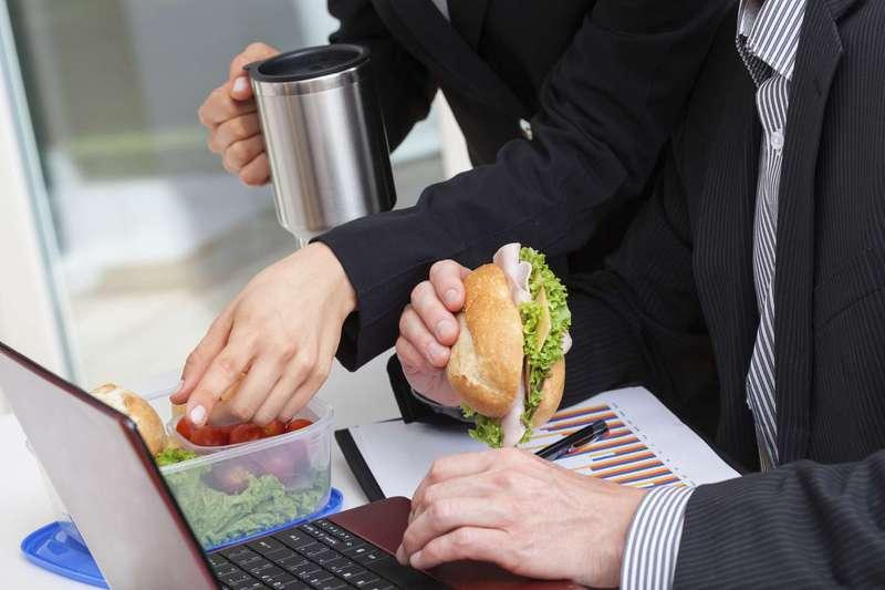 Eating at desk
