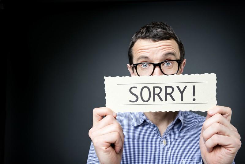 Saying I'm sorry