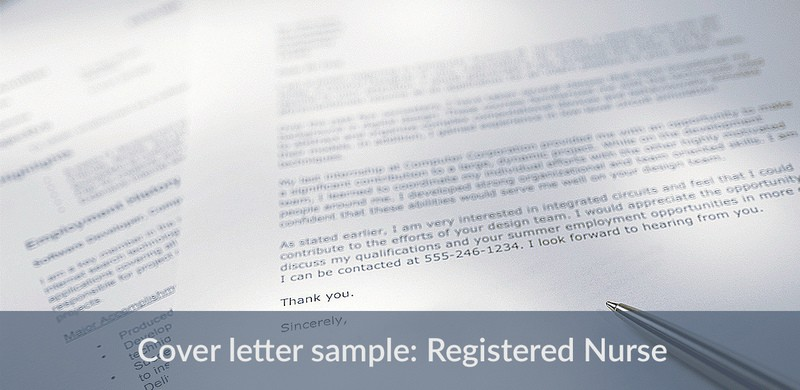 this sample cover letter makes applying easy for registered nurses