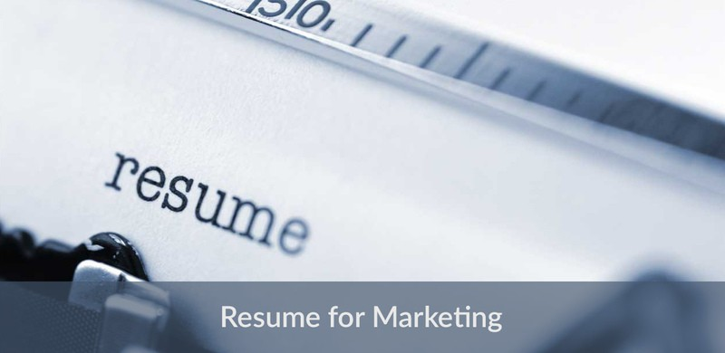 Resume example for marketing managers - experienced