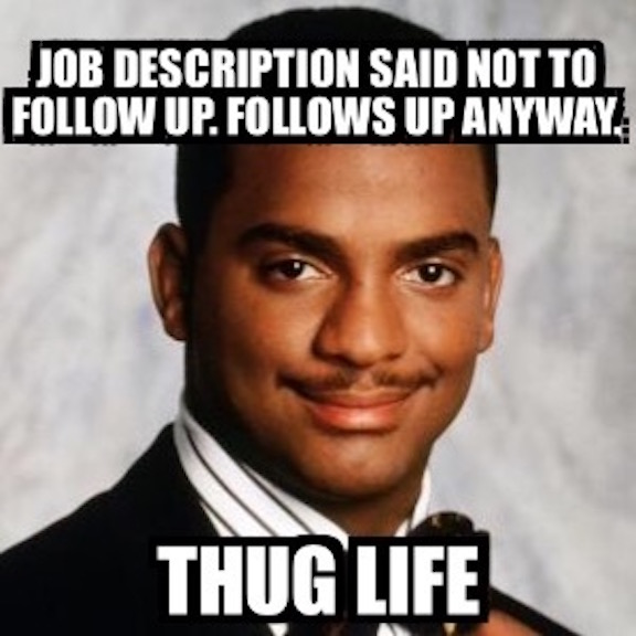 make sure to follow careerbuilder on instagram and twitter for more job search memes
