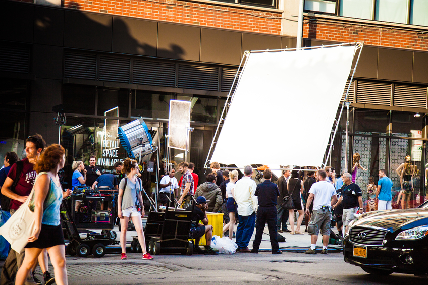 Work behind the scenes in film and television