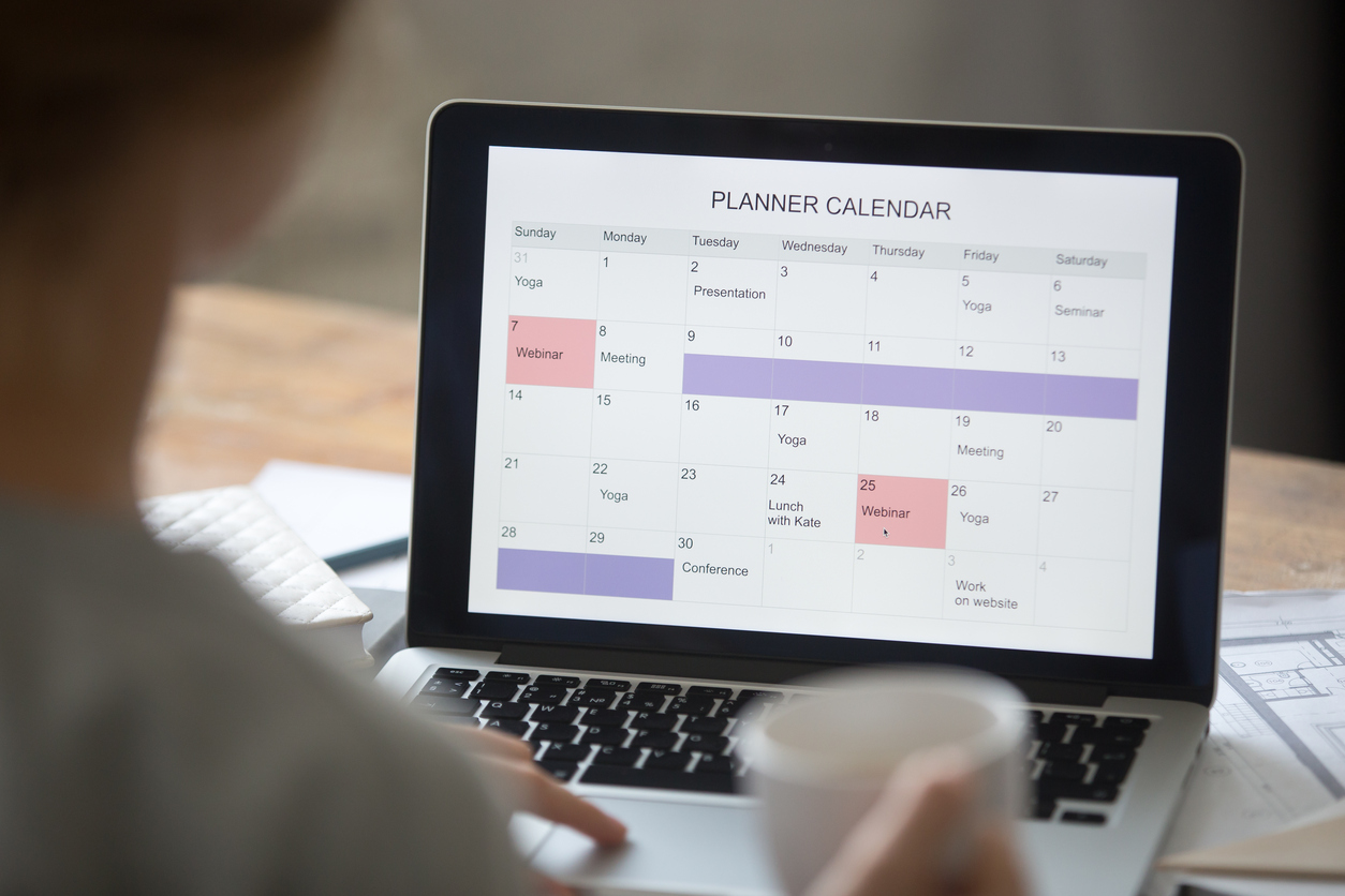 Calendar Planner For Laptop : Tips to staying organized as an office manager